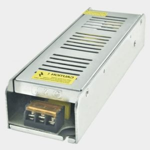 Slim Led Trafo 12 Volt 16.5A 200W Metal Kasa 200x40x58 mm