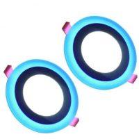 Çift Renk Mavi Beyaz Led Spot 3+3w 3956