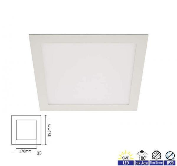 Panel Led Kare Slim 15W PNL-SAK-12