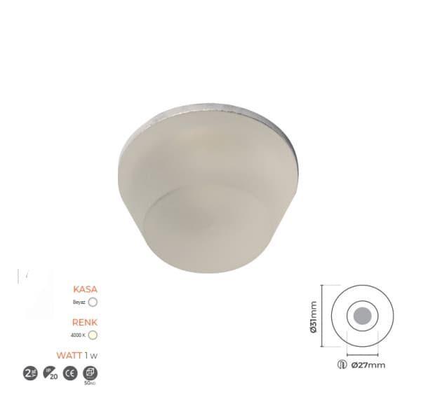 4000K Cam Spot Dekoratif 7054