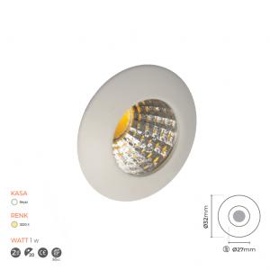 Mini Spot Led İsikli Lamba 7036