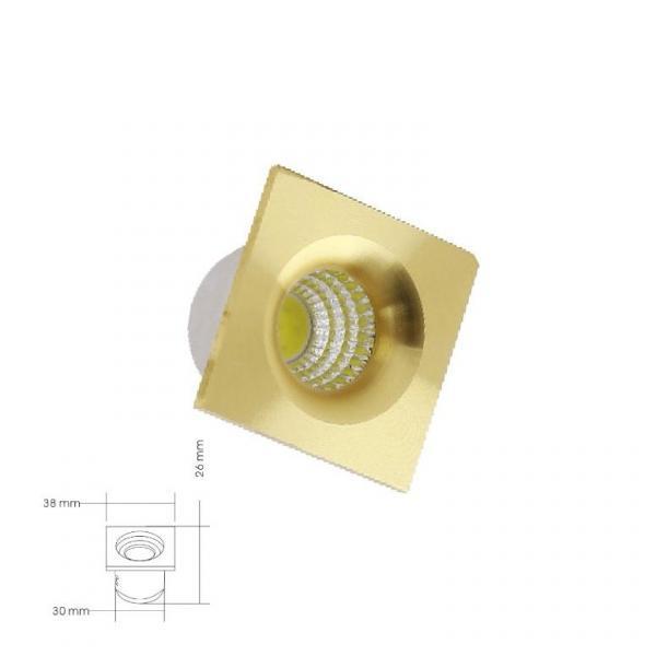 Kare Gold Mini Spot 16330