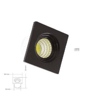 Kare Siyah Mini Spot Işık 16328