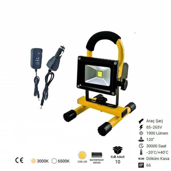 20w Şarjlı Led Projektör 16790-min