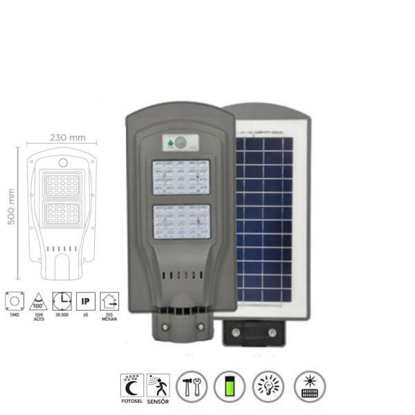 Güneş Enerjili Sokak Lambası 60w 16972