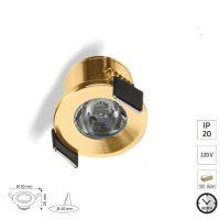 Gold Led Minik Spot 17037.