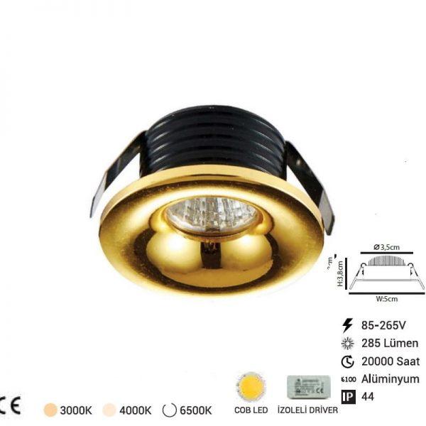 Parmak Led Spot Gold 17325